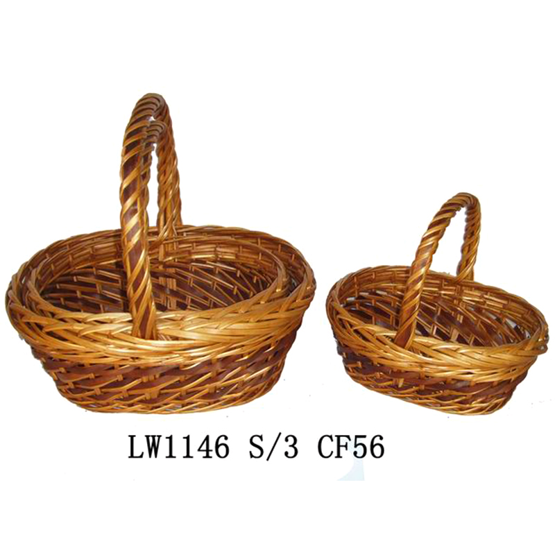 high quality brown india gift basket for party