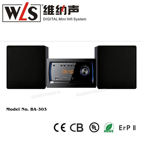 WLS New Products BA-303 portable dvd player with 4 Inch bass speaker usb SD, radio, boombox, mini combo