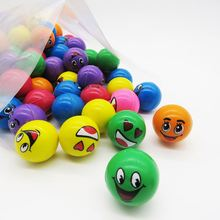 latest toy craze Funny face emoji stress ball softball ball emoji bouncing balls