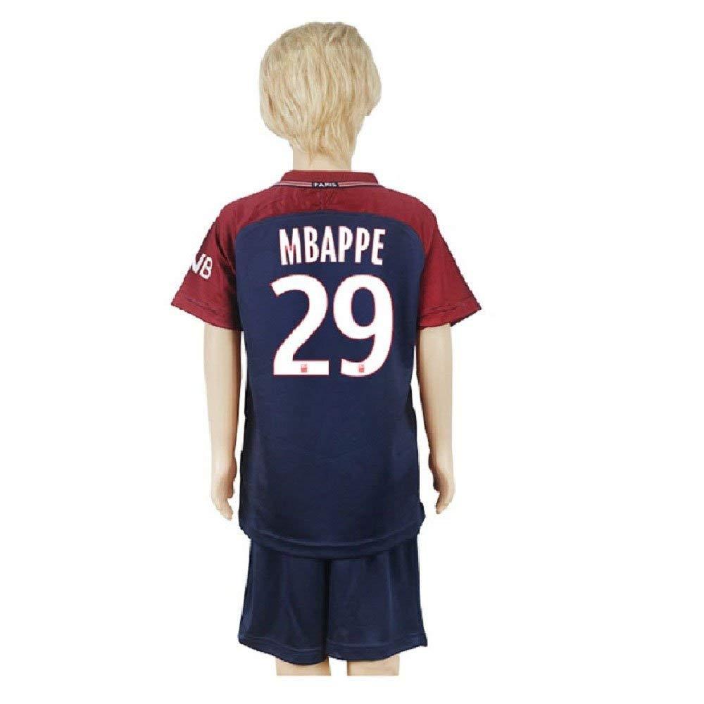 6ae62dfa Get Quotations · Kid's Mbappé Jerseys Paris Saint-Germain 29 Youth Football  Jersey Boy's Soccer Shorts