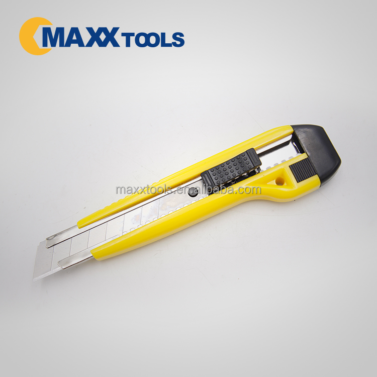 Quality safety retracting utility cutter knife with Snap-off blade 18mm with certificate