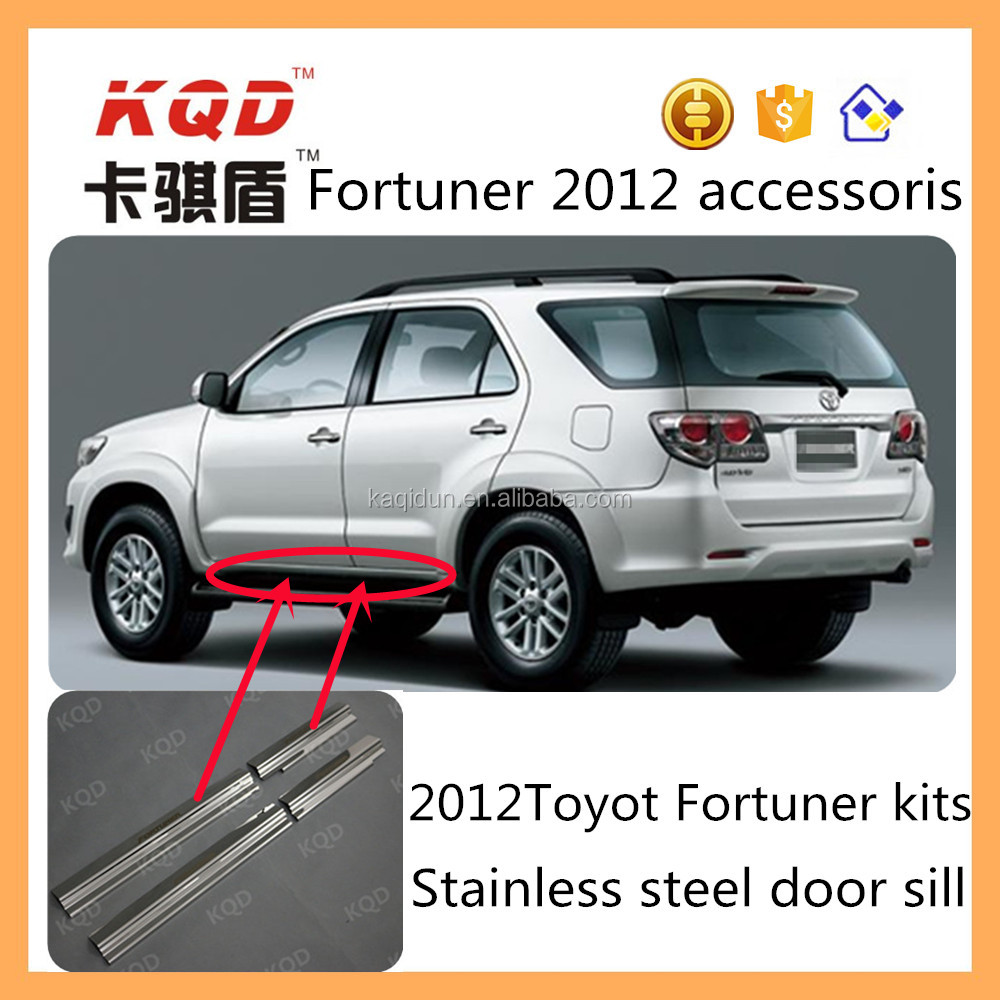 Beautiful car door sill plate toyota fortuner car door sill with competive price