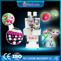 SL-T38 two different sizes automatic pearl attaching machine/ automatic pearl setting machine for apparel, hat, jeans, skirts