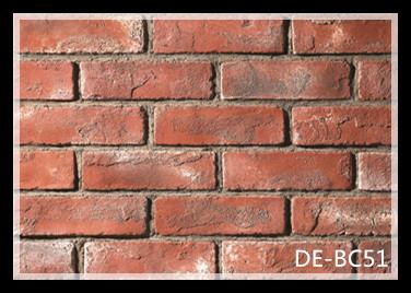 Clic Decorative Indoor Red Wall Bricks Decoration Interior Cement
