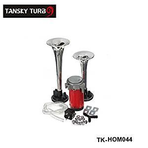 Silver Loud 12V 135db Twin Trumpet Air Horn & Compressor Set Kit Car Boat Truck TK-HOM044