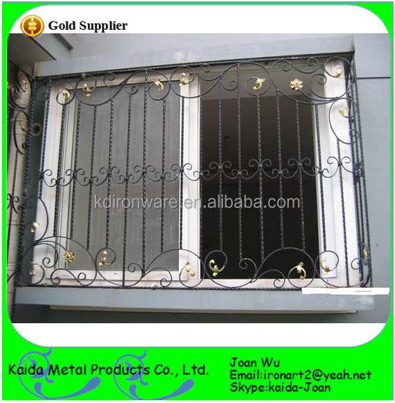 Morden Ornamental Wrought Iron/Steel Window Grates/Grills Design ...