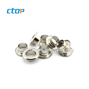 Guangzhou factory micro delicate custom nice eyelets fashion design metal eyelet for bags