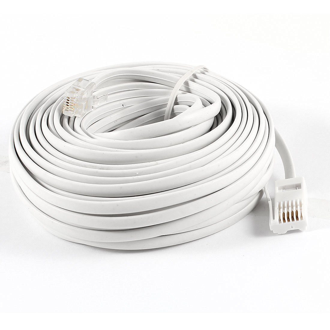 Cheap Standard Telephone And Cables Find Bt Phone Cable Wiring Get Quotations 15m 49ft Rj11 To Uk 6p4c M Modular White
