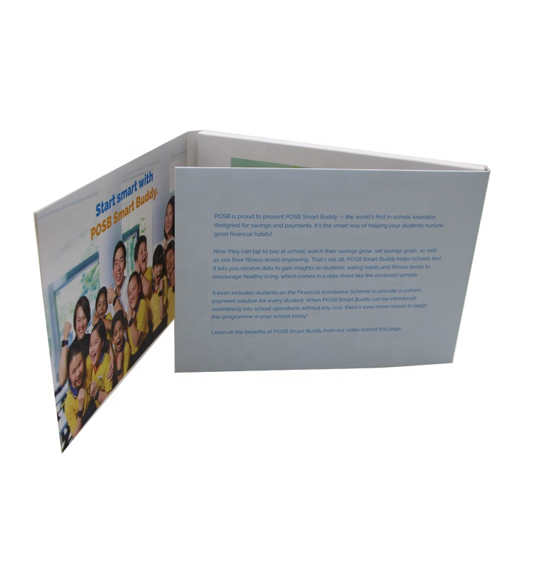 7 Inch HD Screen Digital Lcd Brochure Displayer With Printing For Invitation Video Greeting Card