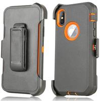 Armor Rugged Defend Heavy Duty Shockproof Defender Case For Iphone XR 3 In 1 Phone Case