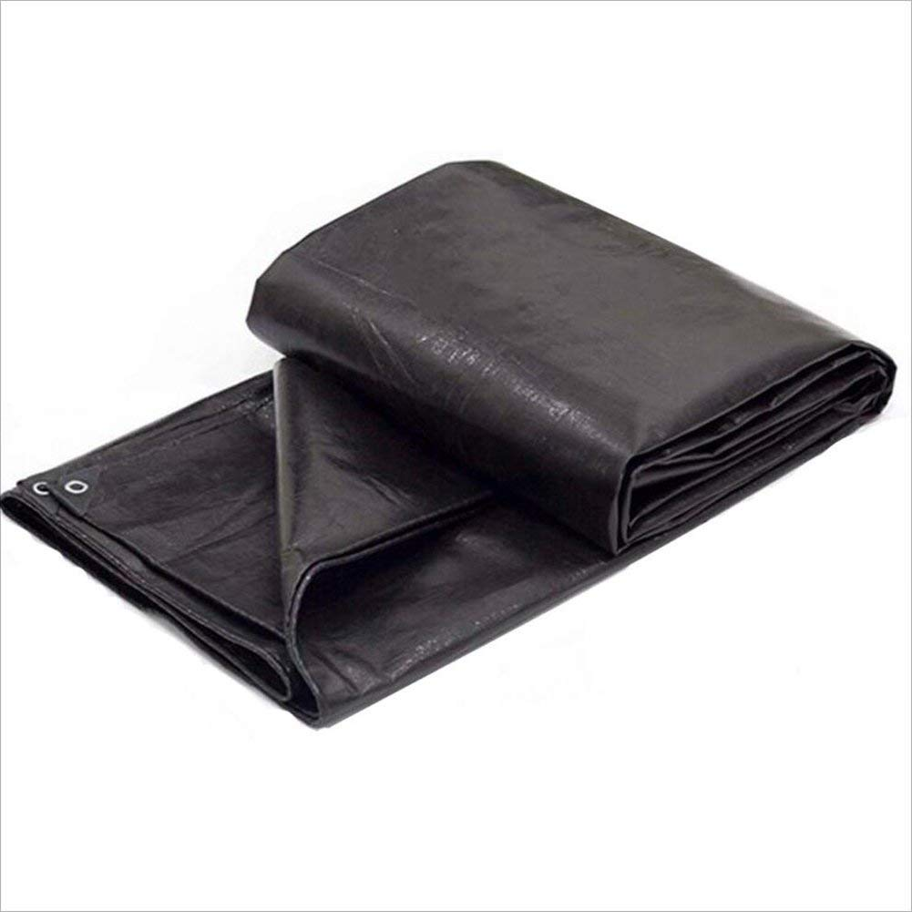 LQQGXL Black waterproof tarpaulin, thick waterproof oil tarpaulin outdoor sunscreen dust cloth absorbs heat and abrasion, Waterproof tarpaulin