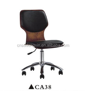 Wood furniture type swivel dining chair for restaurant/adjustable height leather chair CA38