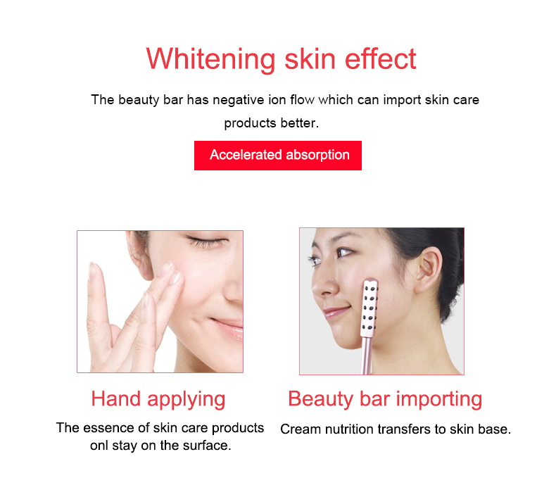 germanium powder plus abs material whiten skin rolling device