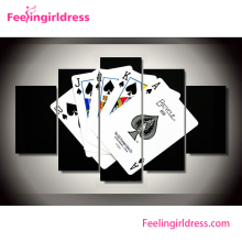 Playing Cards 3D Custom Wall Graceful Paintings Art On Canvas Oil