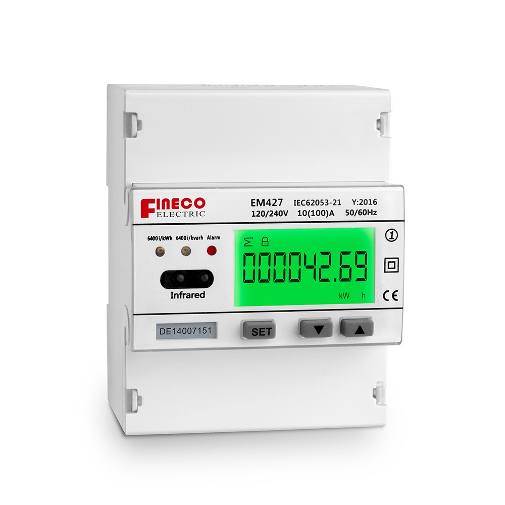 Em427 120 240v 10100a Smart Electricity Kwh Meter Single Phase The Wiring Circuit Diagram With Singlephase Watthour Measuring Digital