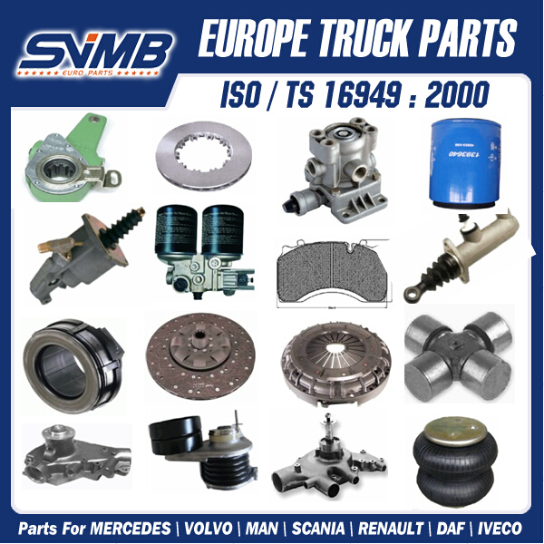 More than 1000 different truck spare parts for Daf