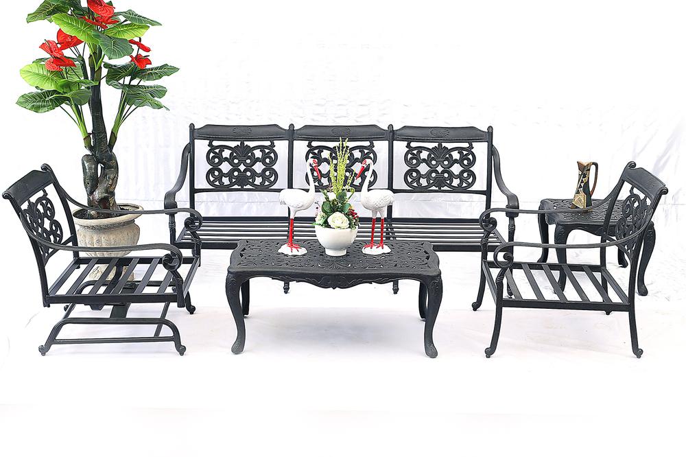 New Design Cast Aluminum Noble Furniture Patio Swing Chair Outdoor ...