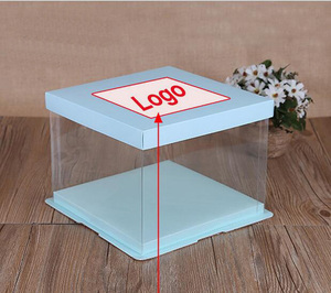 6inch in stock PET Plastic Clear birthday Cake Box