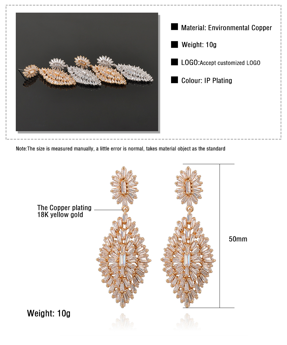 2017 Trending Products Innovative Hanging Tanishq Diamond Earrings