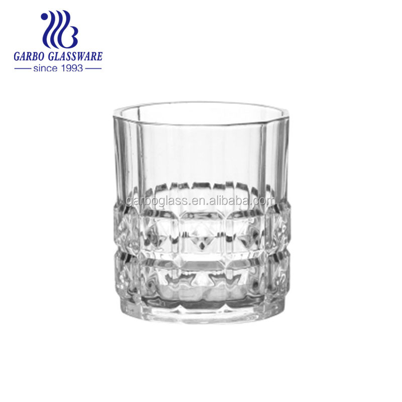 Hot sell engraved lead free crystal shot whisky glass high quality transparent , glass tumbler , water drinking glass