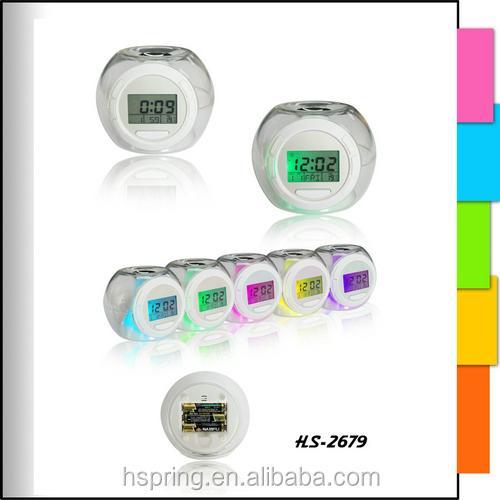 nature sound seven color backlight alarm clock