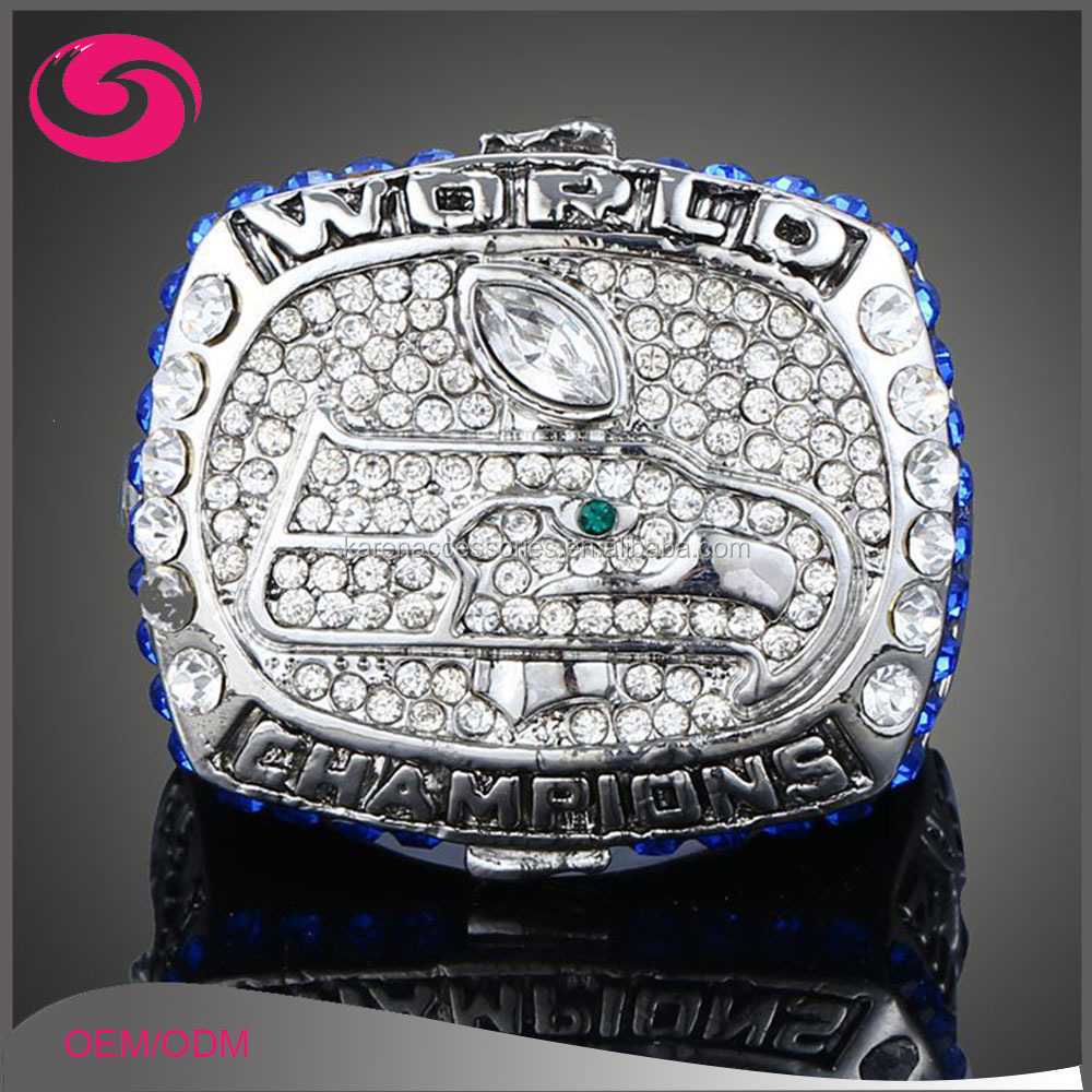3D Football Fan's Mourning Ring 2013 Seattle Seahawks Rugby Championship Ring
