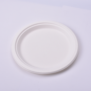Stock up on Black Friday round bio disposable plate Eco-friendly disposable dishes plate Microwave and refrigerator safe
