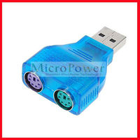 Slim USB 2.0 to PS/2 Adapter Dongle USB port to the keyboard / mouse interface