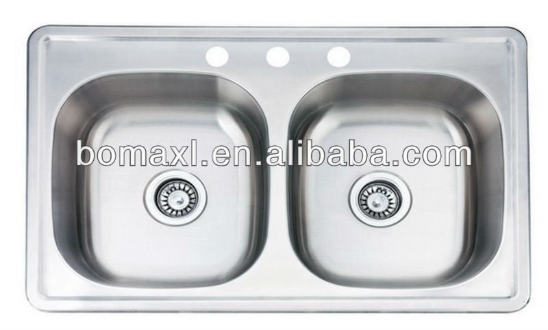 Popular Double Bowl Kitchen Stainless Steel Sink