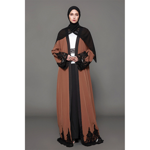 #1543 islamic abaya in pakistan karachi wholesale women kaftan dubai abaya solid color pendulum muslim women evening dress
