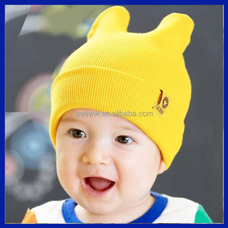 2016 wholesale promotional OEM hot sale wool design your embroidery logo funny cartoon characters beanie