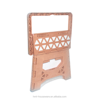 pp wholesale household large size multifunctional antiskid plastic compact folding step stool handle with pad for kids
