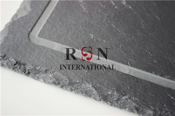 Natural Granite Stone Serving Tray Black Slate Plate