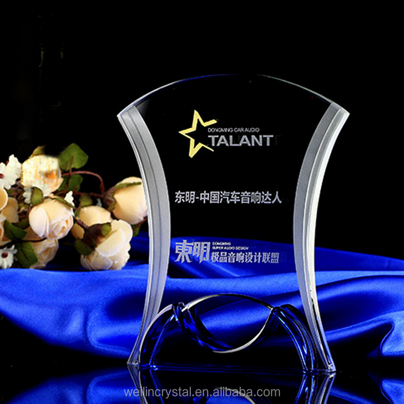 yiwu cheap wholesale crystal trophy