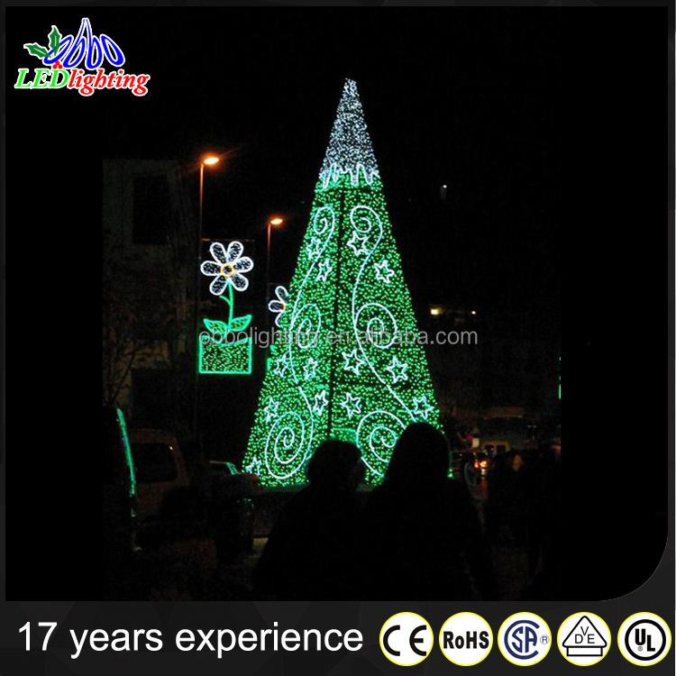 Cheap Price 20M Mall Decoration Giant Christmas Tree Red Rope