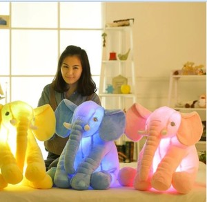 2018 Factory Direct Sale Customized LED Luminous Elephant Plush toys Glowing Stuffed Animal Plush Toys Gifts