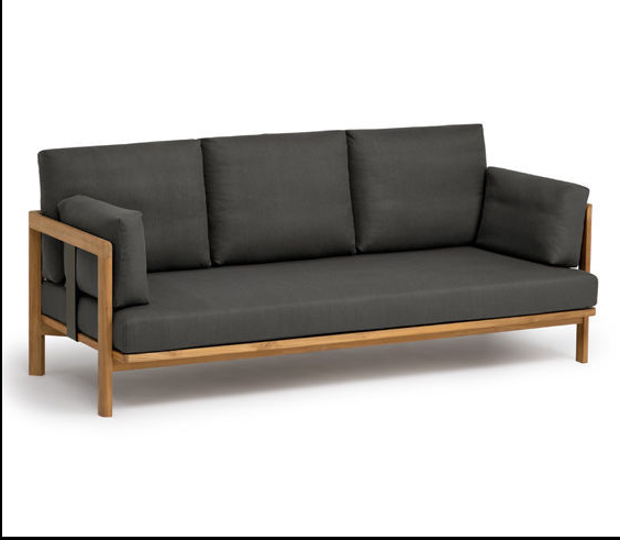 Modern wood frame 3 seaters <strong>sofa</strong> for hotel furniture