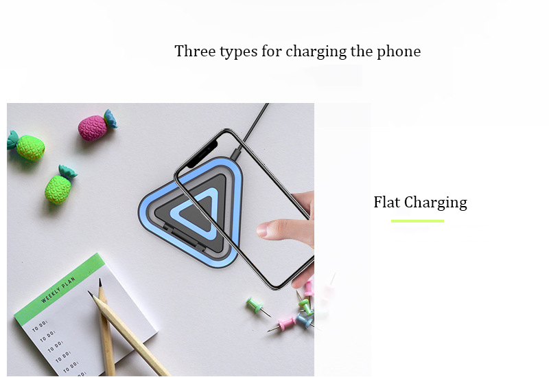Wholesale Letter Patent QI Fast Charging Wireless Phone Charger For iphone x Samsung s8/s8plus