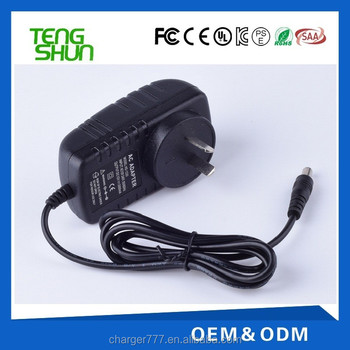 cheap 12v 1.5a switch 100-240v input ac dc power adapter with ce ul saa kc pse