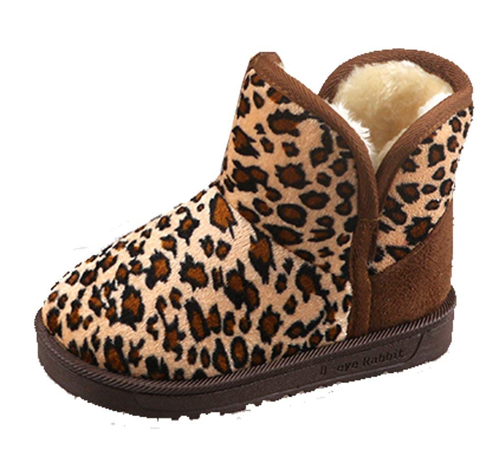 288c66a719e3 Get Quotations · Cattior Toddler Little Kid Leopard Fashion Winter Boots  Shoes Kids Snow Boots (8 M