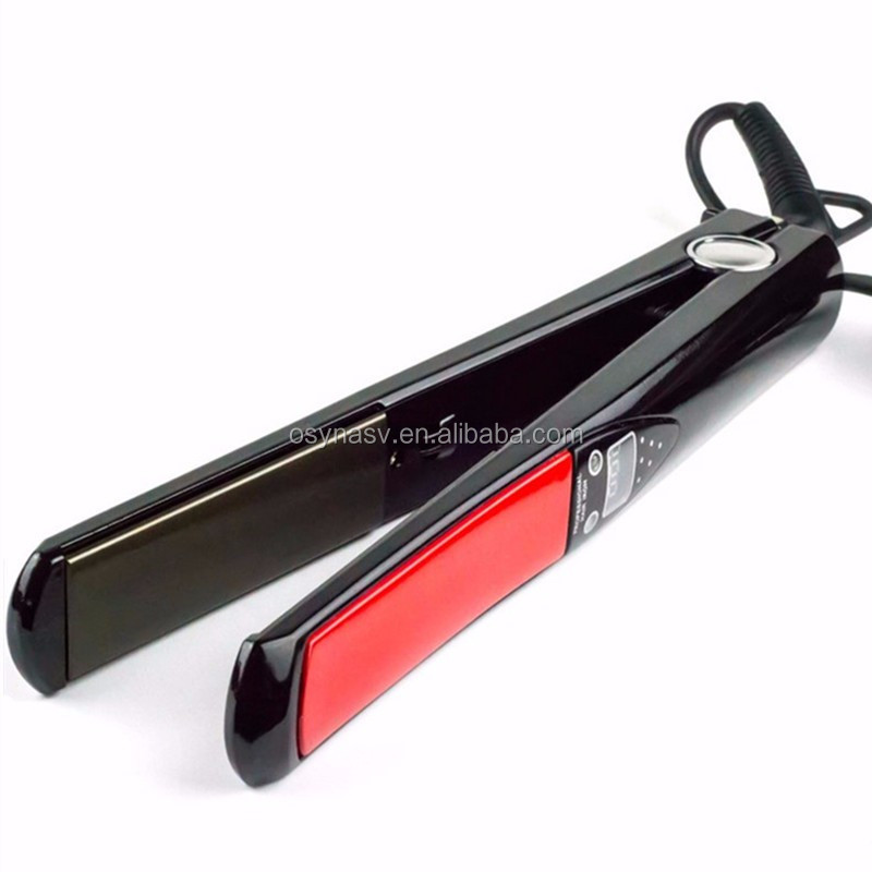 LED Display Titanium Plates Flat Iron Straightening Irons Styling Tools Professional Hair Straightener