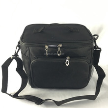 Custom Black High Quality Insulated Waterproof Shoulder Messenger Bag For Lunch