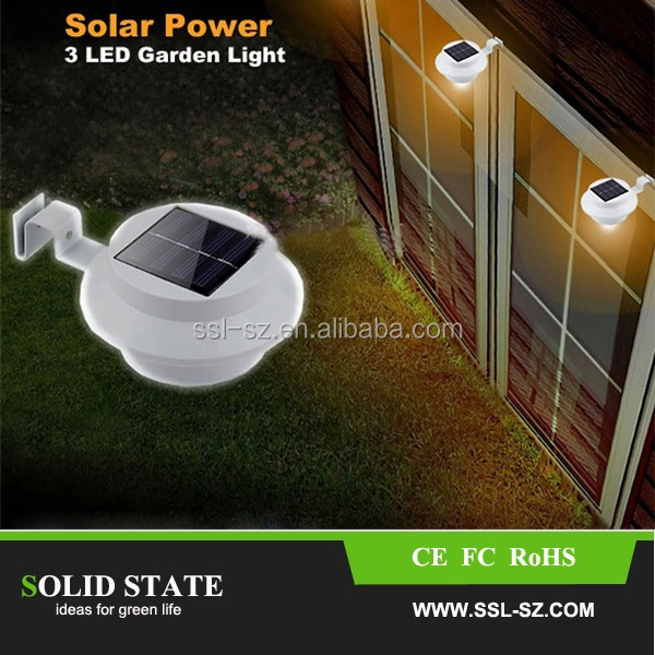 Wholesale Solar Power Panel 16 LED Fence Gutter Light for Outdoor Garden Wall Lobby Pathway Lamp