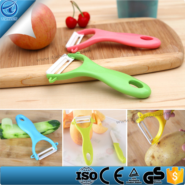 Colorful kitchen gadgets ceramic vegetable Peeler,Mini Ceramic Carrot Potato Peeler ,Ceramic Peeler Knife Set Kitchen Tools