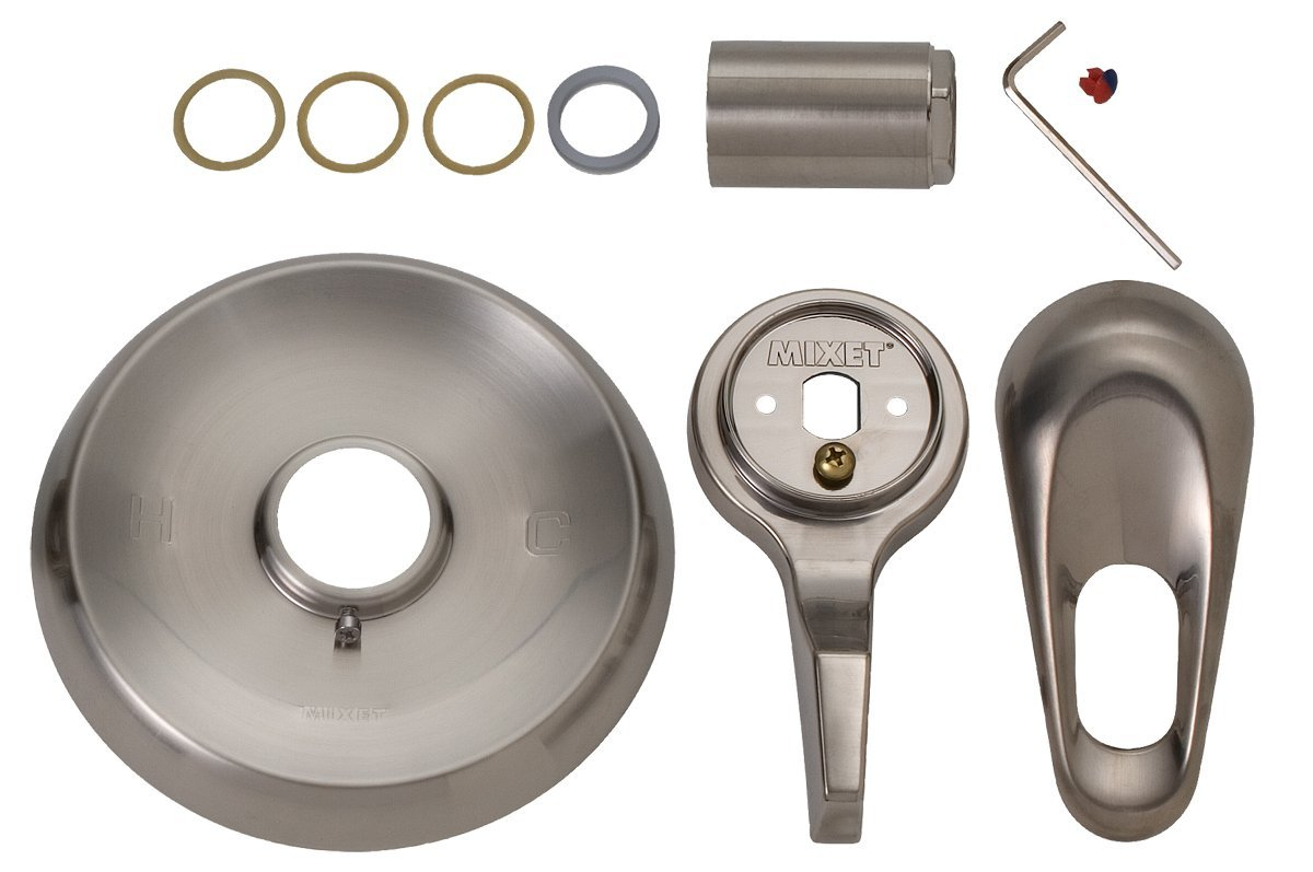 BrassCraft SKD0204 D Mixet MTR-5 HH SN Single Handle Tub and Shower Trim Kit with ADA Compliant Handles, PVD Satin Nickel