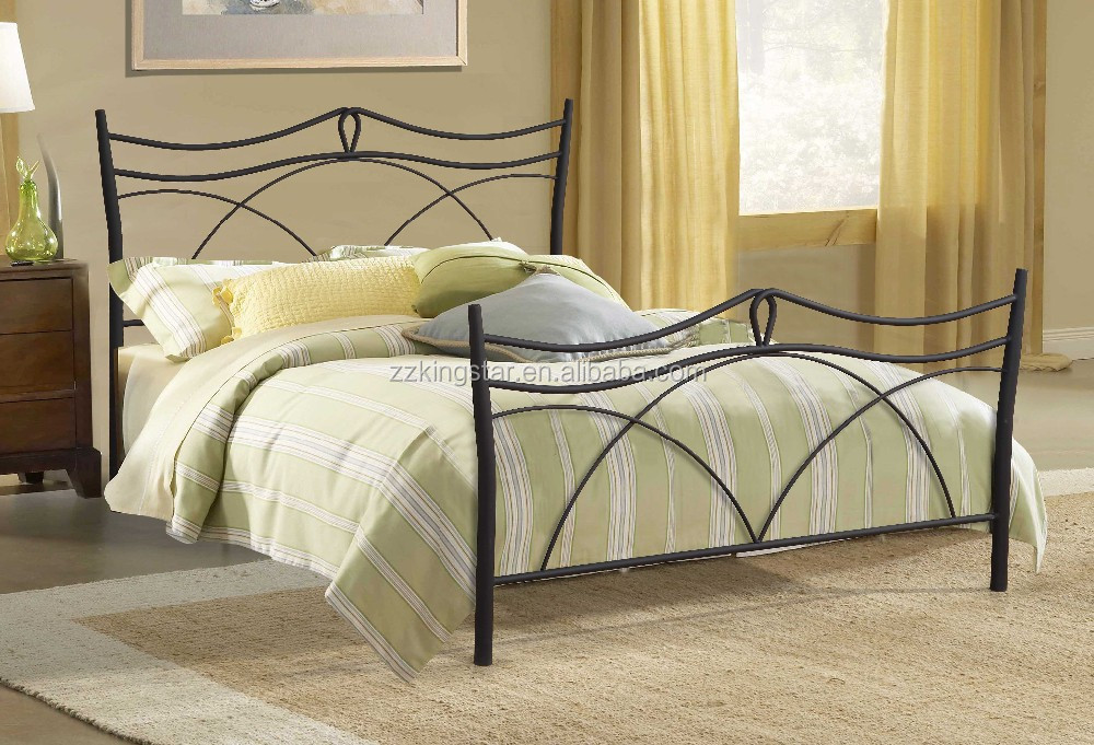 Antique Bed Designs Queen Size Bed Frame With Iron Headboard And