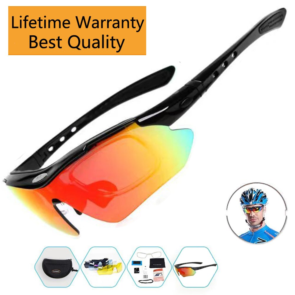 4d9d2ec87bd Sports Sunglasses For Men Women Cycling Glasses Polarized Baseball Running  Fishing Driving Golf With 5 Interchangeable