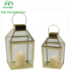 ML-2615 set of 2 Gold Table Brass Geometric Stainless steel Brass Candle Lantern