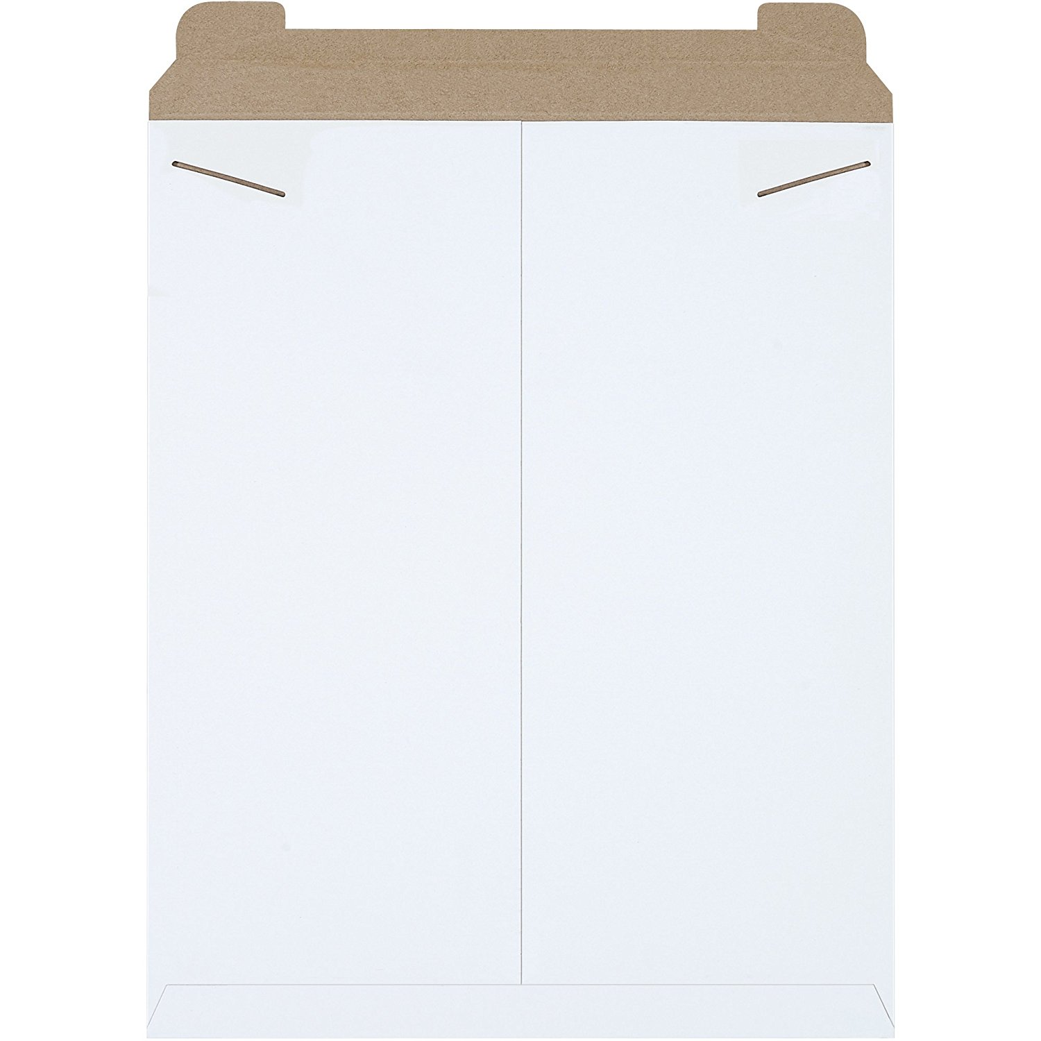 """Boxes Fast BFRM7W Flat Mailers, 17"""" x 21"""", White (Pack of 100)"""