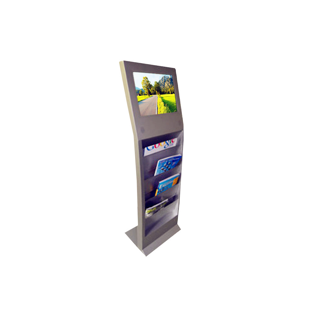 "19"" Vertical PC Digital Signage Display With Newspaper Shelf"